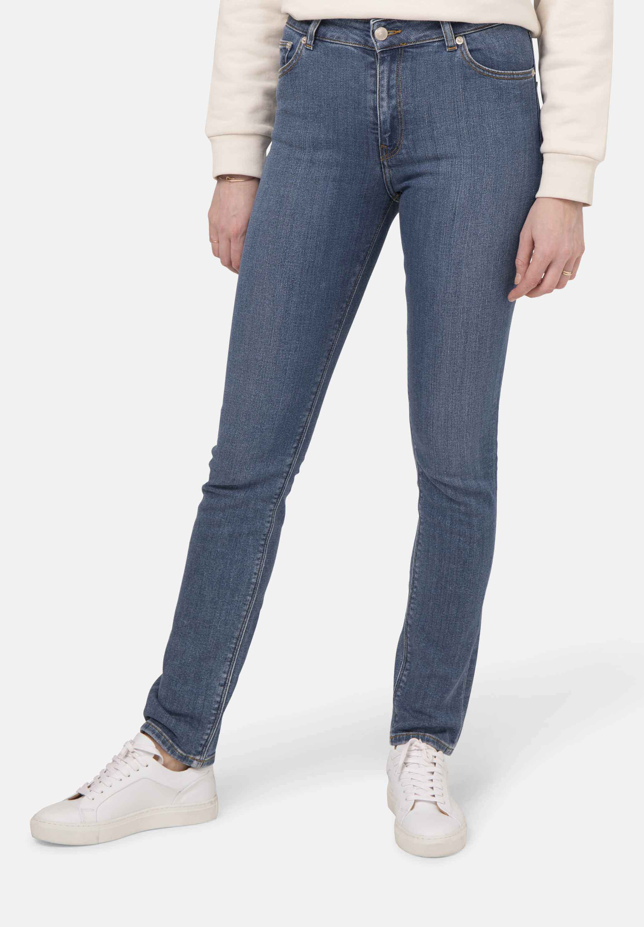 Woman-Organic-Jeans-Regular-Swan-Authentic-Indigo-halffront-2